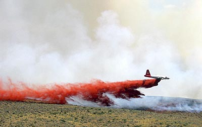 Fire fighting in Northern Nevada