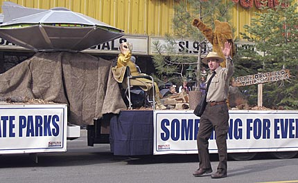 Nevada State Parks float at the 2007 Nevada Day Parade