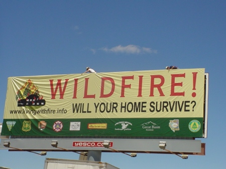 Defensible space billboard in Elko