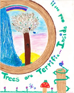 Art from the Nevada Arbor Day Poster Contest Hall of Fame